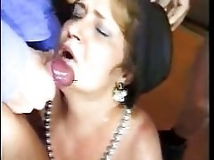 Granny Blowbang And Facials