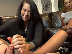 Babysitter Footjob Wife Unaware
