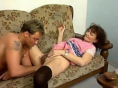 Old Maid Gets Caught And Pays The Price In Blowjobs