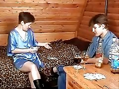 Russian Mom And Boy Playing Strip Poker