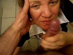 Mature Handjob #3 In The Bathroom
