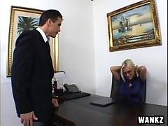 Stunning Blonde Boss Fucks Her Employee