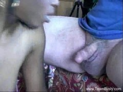 Lola&#039 S Interracial White Man Blowjob
