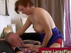 Mature Lady In Stockings And High Heels Riding Truckdriver Cock