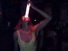 Deepthroat A Big Glow Dildo