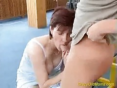 Crazy Old Mom Gets Fresh Cock