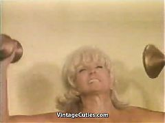 Muscled Chesty Granny Lifts Weights All Naked Vintage