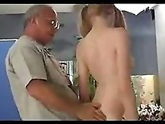 Cute Pigtail Teen seduced by Old Man